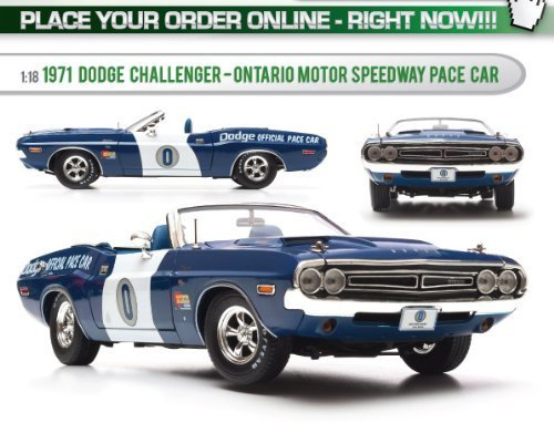 1971 Dodge Challenger Hemi Convertible Ontario Speedway Pace Car 1/18 Limited Edition 1 of 1500 Produced Worldwide by Greenlight 12871 (1971 Dodge Challenger Diecast compare prices)