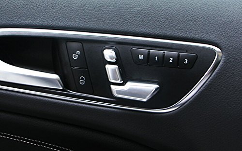 ABS Chrom Sitz Anpassung Cover Trim 4 F/ür ML W166//GL X166 2012-2015