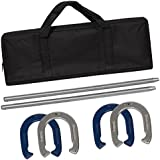 Best Choice Products Powder-Coated Steel Horseshoe Game Set w/Carrying Case - Multicolor