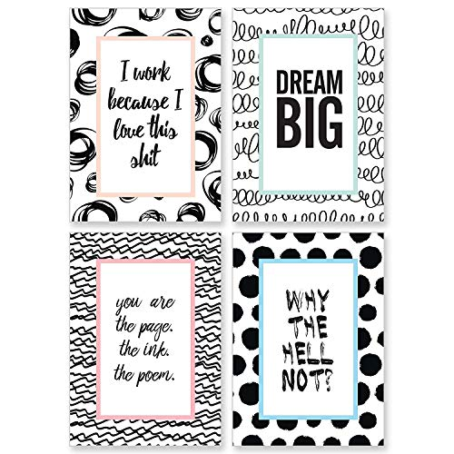 Cupcakes & Kisses Set of 4 Motivation Posters I Inspirational and Motivational Quotes I Poster Size: 8.2 x 11,6 inches Each I Made in Germany