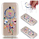 for Samsung Galaxy A5 2017 Case, CrazyLemon Transparent Soft TPU Silicone Gel Shock Proof Clear Varnish Technology Embossed Creative Pattern Design Scratch Resistant Rubber Skin Shell Protective Case Cover for Samsung Galaxy A5 2017 - Campanula
