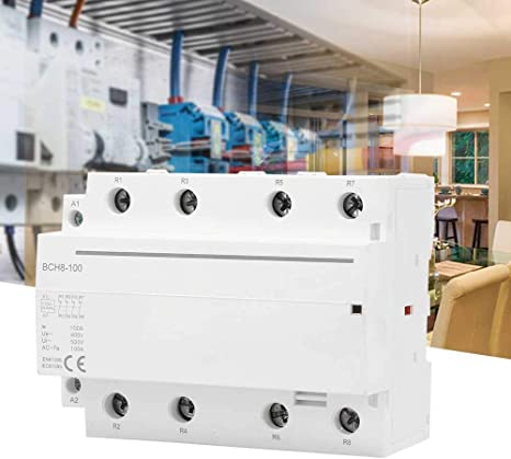 Haushalt AC-Sch/ütz 4P 4NO 4NC 100A 110V 50 4NC 60HZ DIN-Schienen-Haushalts-Wechselstromsch/ütz Geringer Stromverbrauch