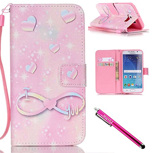 [Galaxy S6 Case, Galaxy S6 Wallet Case, Firefish [Kickstand] Design [Card/Cash Slots] Premium PU Leather Wallet Flip Cover with Wrist Strap for Samsung Galaxy] (Home Made Video Game Costumes)