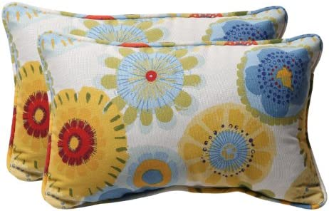 Pillow Perfect Outdoor Indoor Crosby Confetti Lumbar Pillows, 11.5 x 18.5 , Multicolored 2 Pack
