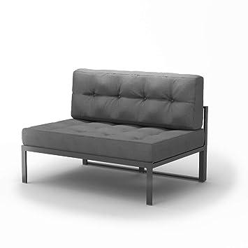 Amazon De Oskar Alu Lounge Gartenmobel Inkl Palettenkissen