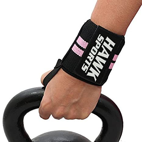 Powerlifting Thumb Loop for Easy Application and Stability Perfect for Weightlifting Wrist Wraps 18 1 YEAR WARRANTY!!! BodyBuilding Suitable for Women and Men