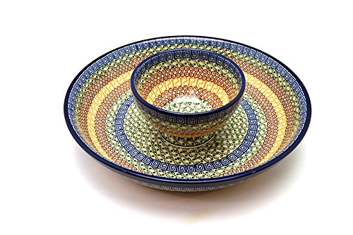 Polish Pottery Chip & Dip Set