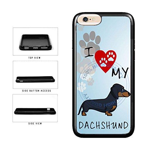 BleuReign I Love My Dachshund Dog Lover TPU RUBBER SILICONE
