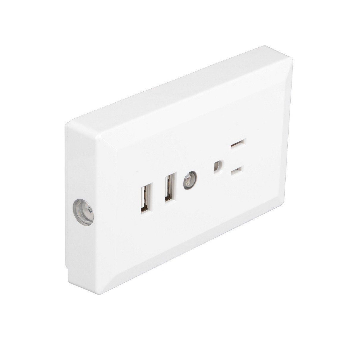 15 Amp GFCI Outlet 125 Volt Standard Outlet Socket Dual USB Ports Wall Mount Plug Power Plate With Sensor LED Light White - - Amazon.com