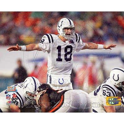 (16x20) Peyton Manning Super Bowl XLI Calling Play (No.13) Glossy Photo Photograph