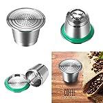 Konesky-Capsule-di-Caff-Tazza-in-Acciaio-INOX-Metallo-Riutilizzabile-Capsule-Ricaricabili-per-Casa-Caffetteria-Argento-Free-Pennello-e-Cucchiaio