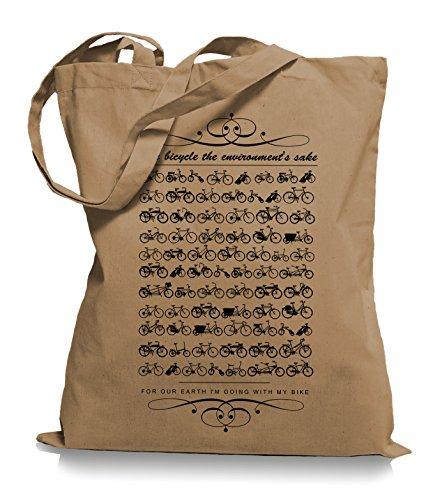 Ma2ca® Kult Bikes Stoffbeutel Einkaufstasche Tasche Tragetasche / Bag WM101 Caramell 5HUe9LmS