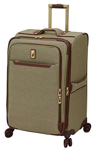 London Fog Cambridge II 25'' Expandable Spinner, Olive Houndstooth by London Fog