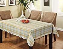 Eforcurtain Fresh Checkered Flannel Back Table Cover Vinyl Tablecloth Waterproof/Oliproof Easy Care for Kitchen, 60 By 104 Inch, Green/Blue