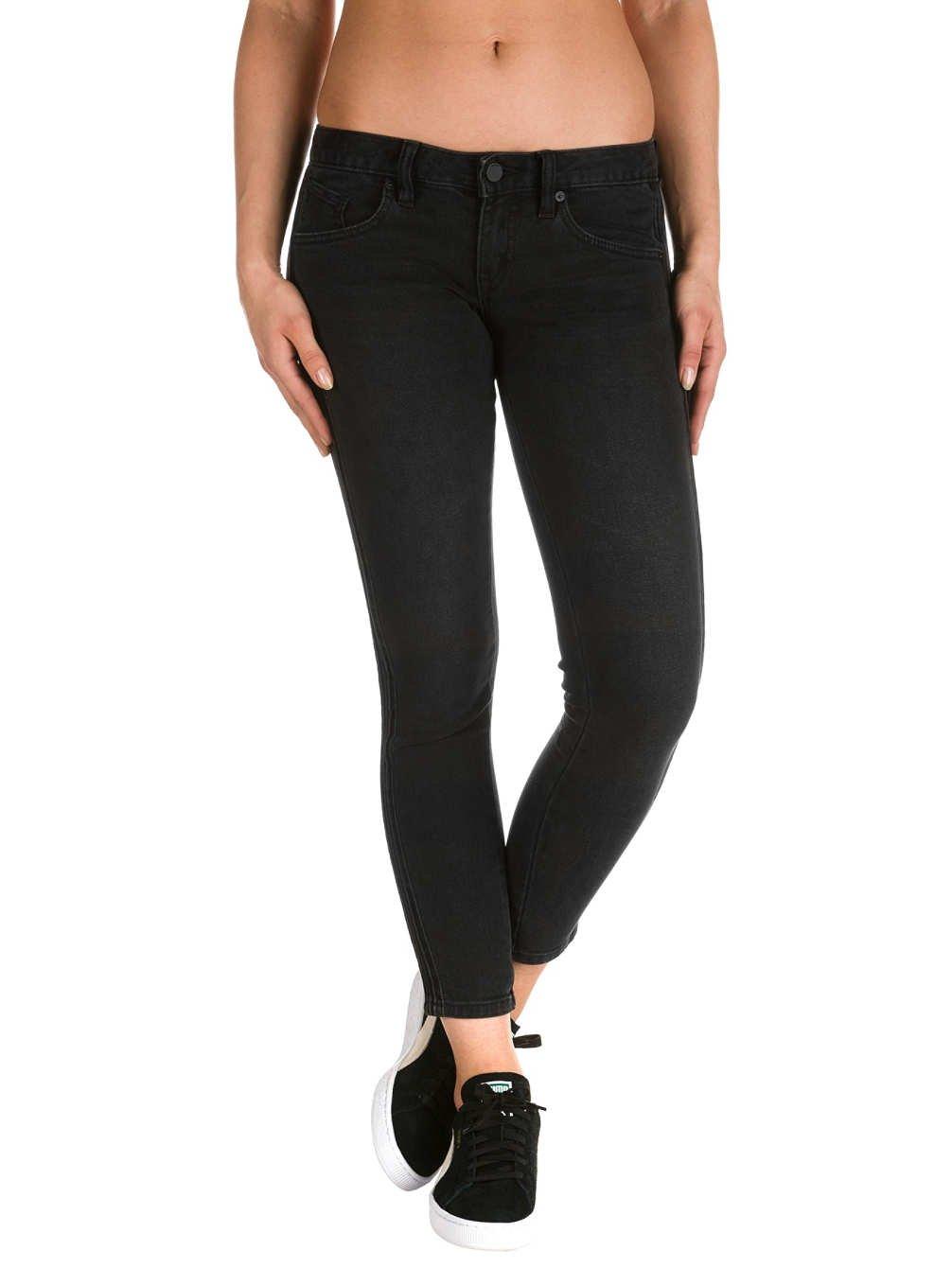 TALLA 7. Volcom Rockout Skinny Pantalones Vaqueros, Mujer