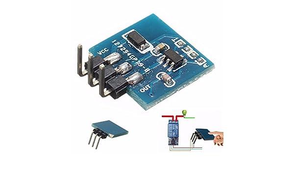 3PCS TTP223B Digital Sensor Táctil Interruptor Táctil Capacitiva Módulo para Arduino