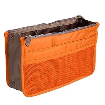 pochette de maquillage Orange Hrph Sac de transport pour maquillage//cosm/étiques