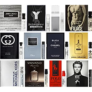 High End Designer Fragrance Sampler for Men - Lot x 12 Cologne Vials