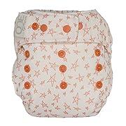 GroVia O.N.E. Reusable Baby Cloth Diaper (Grapefruit Stars)