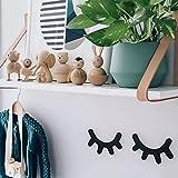 1 Pairs Eyelash Wooden Hook Wall Hangers