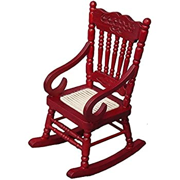 Package of 2 miniature wood rocking chairs for for Small wooden rocking chair for crafts