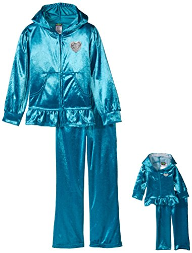 Dollie & Me Little Girls' Jogging Suit with Velour Hooded...