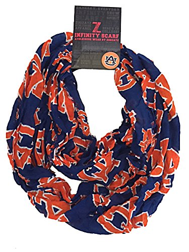 NCAA Team Logo Sheer Infinity Scarf (Auburn tigers) Sheer Tiger
