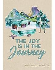 Camping Journal & RV Travel Logbook, Blue Vintage Camper Journey