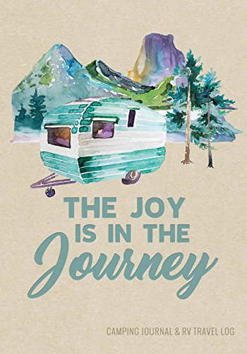 Camping Journal & RV Travel Logbook, Blue Vintage Camper for sale  Delivered anywhere in Canada