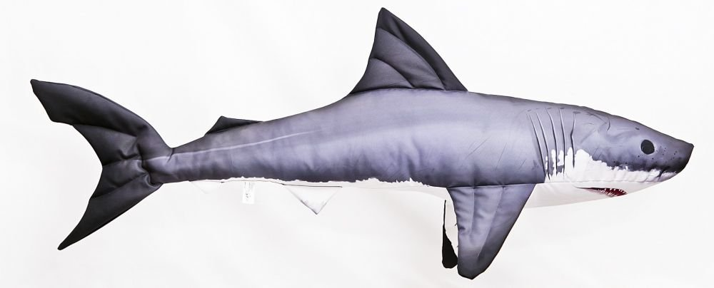 Cuscino Pesce Hai squalo bianco 120cm peluche PESCI kuscheltie cuscino peluche Gaby