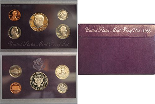 1988 S US Mint Proof Set Original Government - Mint 1988