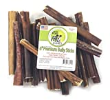 Sancho & Lola's 6-inch Med-Thick Bully Sticks for Dogs Made in USA 20oz Value Pack (18-20) Grain-Free Boutique Beef Pizzle Dog Chew Sticks