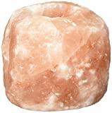 Accentuations by Manhattan Comfort AMC2-95000 Natural Crystal Himalayan Salt Candle Holder - Set of 2,Natural