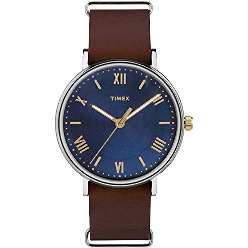 timex-mens-tw2r28700-southview-41-brown-blue-leather-strap-watch