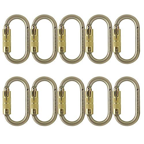 Fusion Climb Ovatti Steel Auto Lock Oval-shaped Carabiner 10-Pack by Fusion Climb