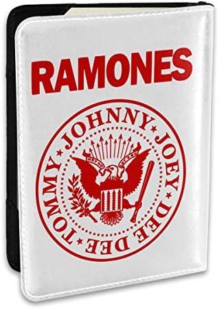 Ramonesラモーンズ パスポートケース メンズ 男女兼用 パスポートカバー パスポート用カバー パスポートバッグ ポーチ 6.5インチ高級PUレザー 三つのカードケース 家族 国内海外旅行用品 多機能