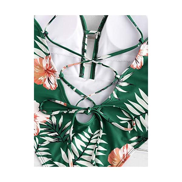 ZAFUL Bikini Donna Costumi da Bagno Imbottiti Bechwear in Costume da Bagno Foreale Vintage 5 spesavip