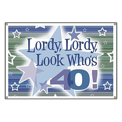 y Look Who's 40 Vinyl Banner, 44
