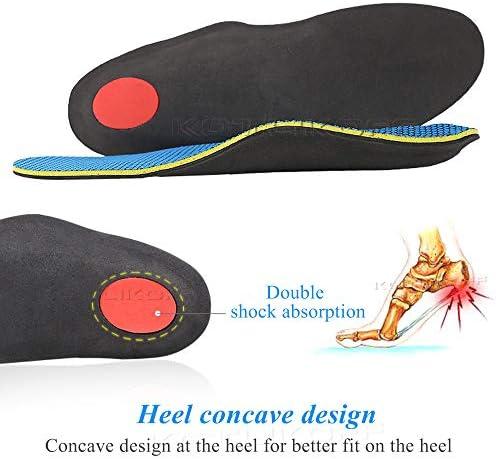 LONG-X 2 Stücke Flache Füße Einlegesohlen Orthesen Arch Support Einsätze Orthopädische Schuhe Einlegesohlen Ferse Schmerzen Plantar Fasciitis Männer Frau,XS