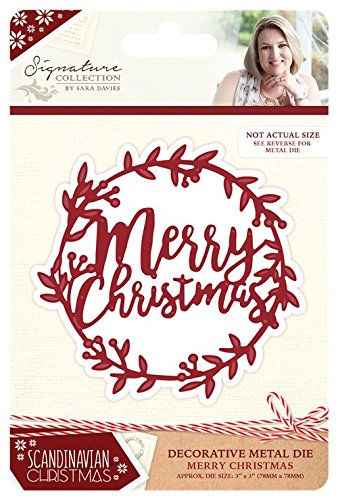 Sara Signature Collection Scandinavian Christmas die – Merry Christmas, argento Crafter' s Companion S-SX-MD-MER