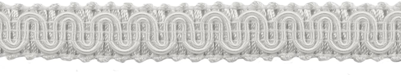 D/ÉCOPRO 54 Yard Package of 5//8 inch Basic Trim Decorative Gimp Braid A1 Style# 0058SG Color: White 164 Ft // 49.4 Meters