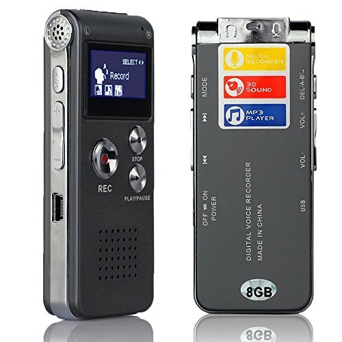 Freestep-generic-multifunctional-rechargeable-8gb-digital-audio-voice-recorder-dictaphone-mp3-player
