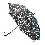 San Francisco Umbrella Co. Premium Rain Umbrella Butterfly Wing Art Design - Classic Stick Fashion Umbrella- Strong Handle & Steel Shaft -Island Paradise Blue
