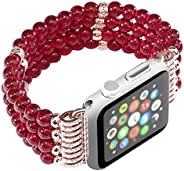 Beads Bracelet ,for Apple Watch, 42mm 44mm 40mm 38mm Watch Strap for Women Men ,for Iwatch SE / 6/5/4/3/2/1 Se