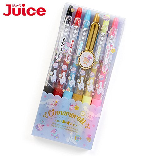 Sanrio Cinnamoroll gel ink ballpoint pen JUICE 6 color set Happiness Girl From Japan New