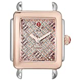 MICHELE Women's MW06V00L4072 Deco 16 Analog Display Swiss Quartz Two-Tone Watch Head