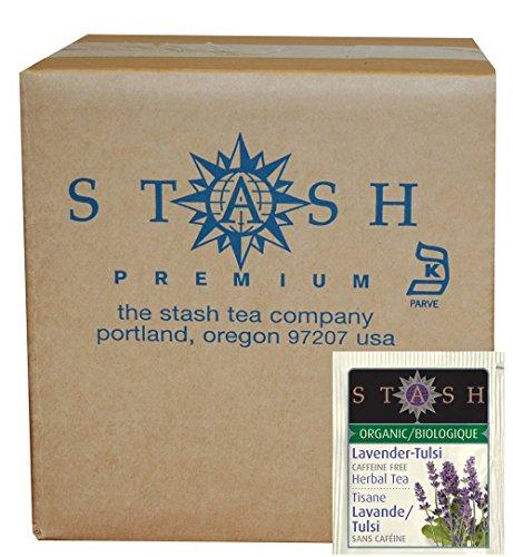 Stash Tea Organic Herbal Tea Bags in Foil, Lavender Tulsi, 100 Count (packaging may vary)