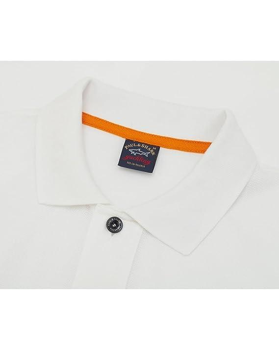 Paul & Shark Camisa Polo de manga corta blanco XX Large: Amazon.es ...