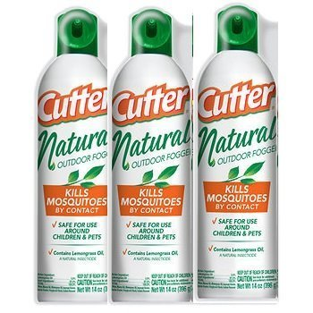 Cutter Natural Fogger Insect Repellent, 3 pk./14 oz.each can