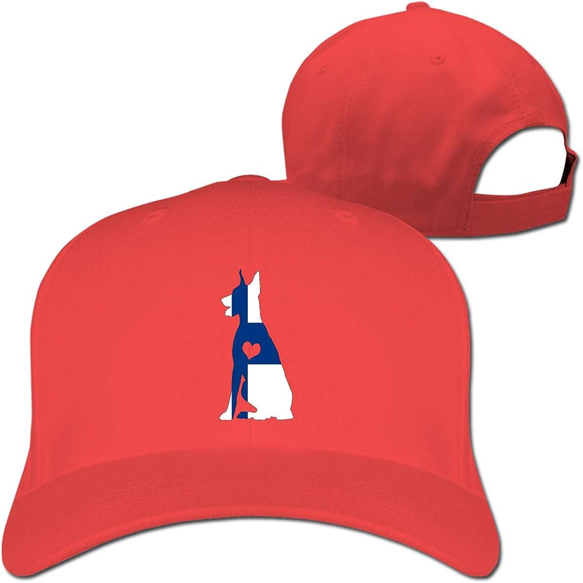 Finland Flag Adore Dobermans Dog Unisex Pure Color Baseball Cap Classic Adjustable Sun Hat